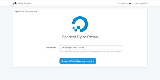 Connect DigitalOcean to SnapShooter for daily backups